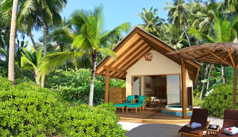 artists impression Deluxe Jacuzzi Beach villa exterior 1 bigger