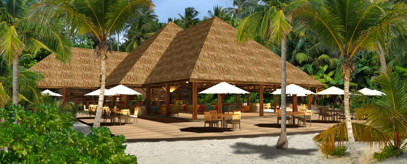 artists impression Reethi Faru Bar (Main Bar) exterior 1