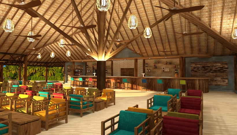artists impression Reethi Faru Bar (Main Bar) interior 1