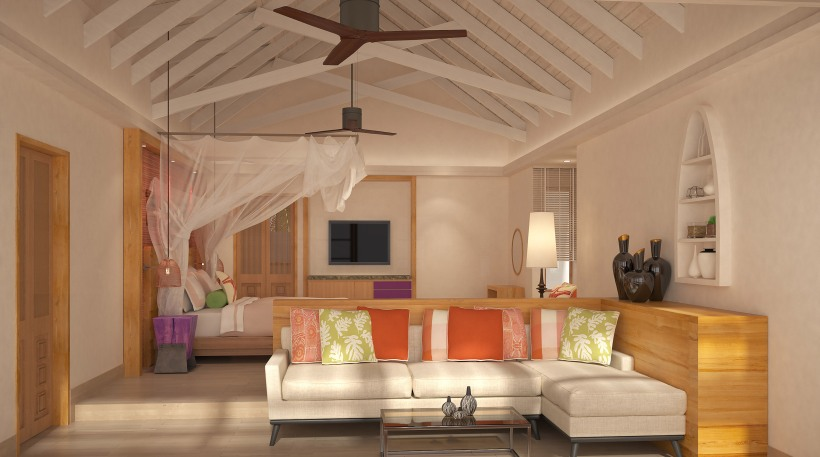 BEACH FAMILY POOL SUITE - MASTER BEDROOM INTERIOR