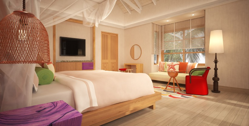 BEACH VILLA - BEDROOM INTERIOR VIEW