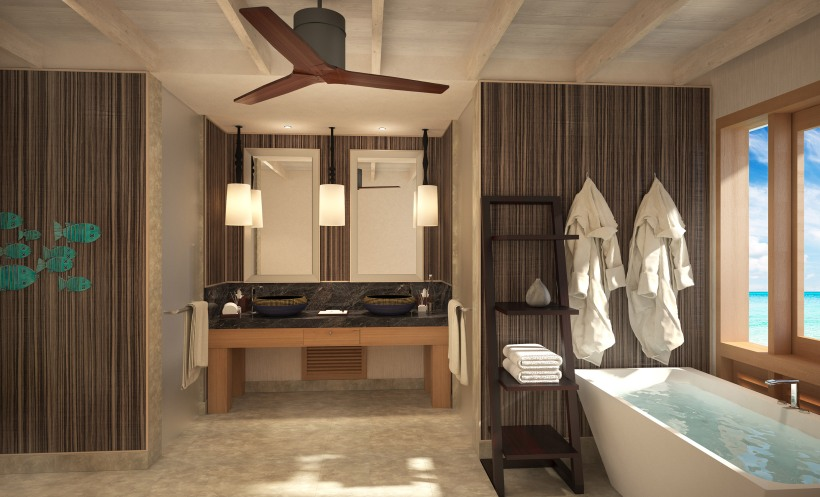 WATER VILLA - BATHROOM VIEW