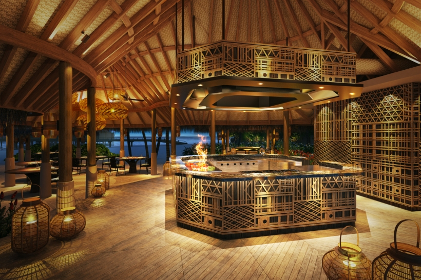 Ocago the grill - The Nautilus Maldives rendering restaurant the grill r1920