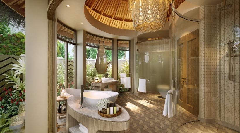 The Nautilus Maldives rendering beach house bathroom r1920