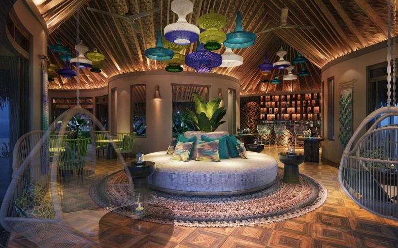 The Nautilus Maldives rendering restaurant pool bar interior r1920