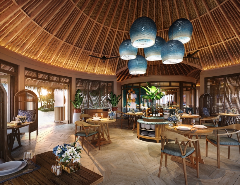 Thyme all day dining -The Nautilus Maldives rendering restaurant all day dining r1920